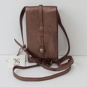 New Hobo Token Crossbody Phone Bag Wallet Bronze